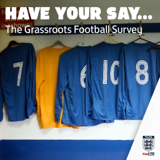 FA LAUNCHES THIRD GRASSROOTS FOOTBALL SURVEY