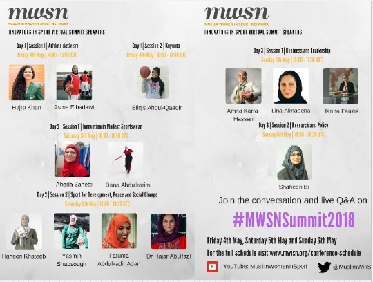 Join our Head of Research at the 2018 Muslim Women in Sport Global Virtual Summit